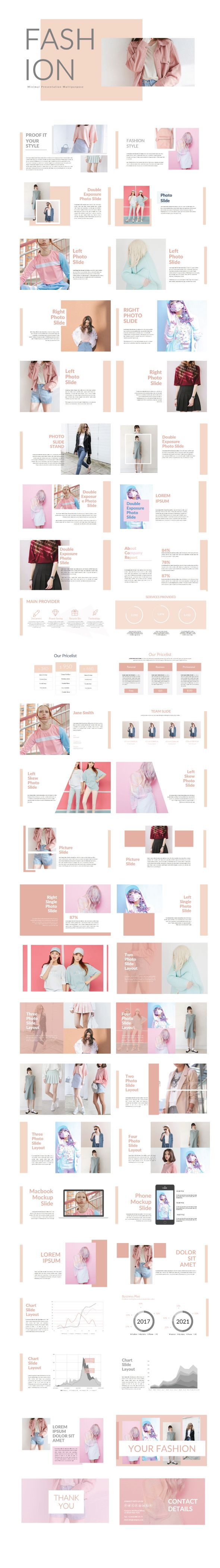 Pinky Fashion Template Keynote