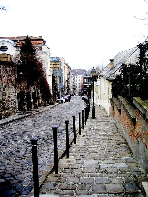 The ancient cobbles of Gul Baba Street, Budapest, Hungary
