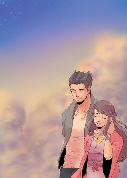 Artwork? Phoenix Wright and Maya Fey. Don't ship but this is too pretty