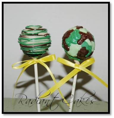 camo cake pops. For more party inspiration visit Get The Party Started on Etsy at www.getthepartystarted.etsy.com