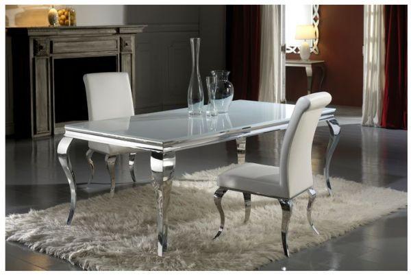 De mesas comedor moderno con cristal modelos fachadas - Mesas modernas de cristal ...