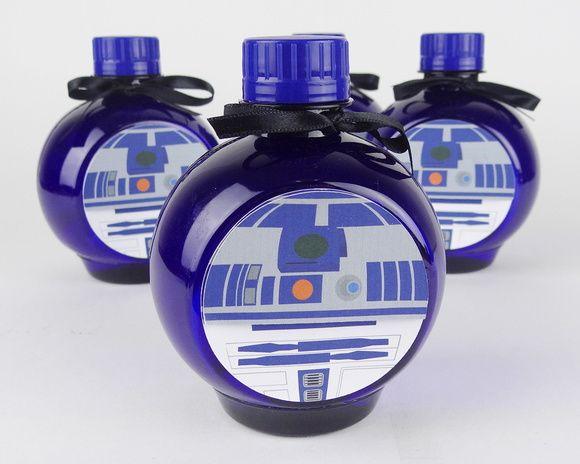 R2-D2 - Água Personalizada - Star Wars - Lembrancinha - Festa