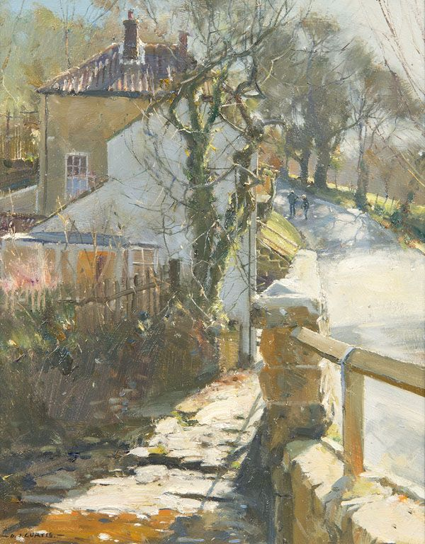 Spring Light - Beck Hole, North Yorkshire, Oil on board: 12x10, David Curtis Autumn Exhibition 2014 - Richard Hagen, Fine Art Gallery