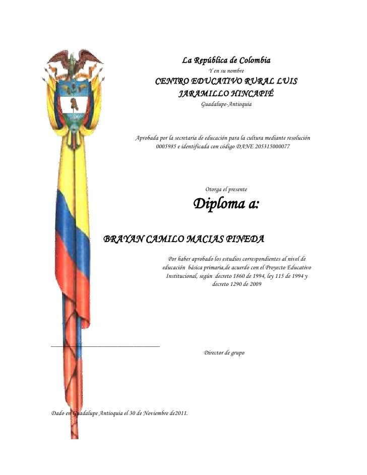 La República de Colombia                                                                Y en su nombre                    ...