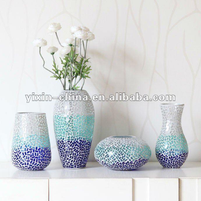 arranjo de flores artesanais em mosaico de vidro vasos-Artesanato de Vidro -ID do produto:532981353-portuguese.alibaba.com