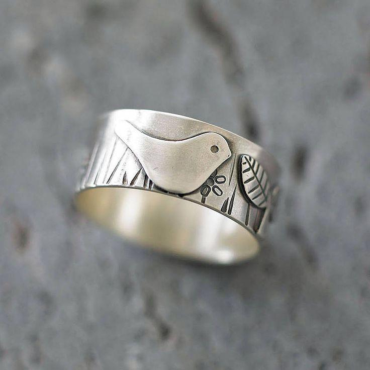 bird in the garden silver ring by shere design | notonthehighstreet.com