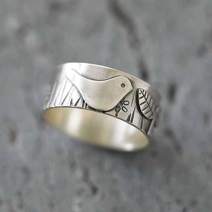 bird in the garden silver ring by shere design   notonthehighstreet.com