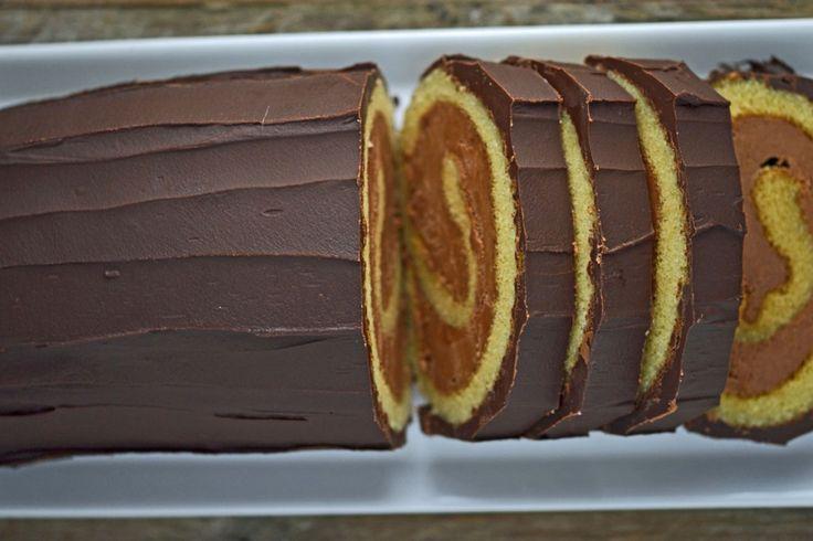 Gluten-Free Bûche de Noël cake
