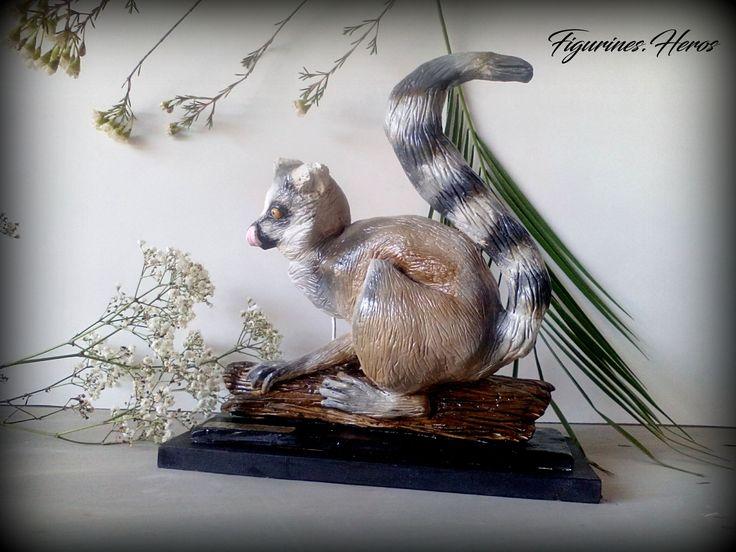 Figurine singe lémurien En argile : Sculptures, gravures, statues par figurinesheros