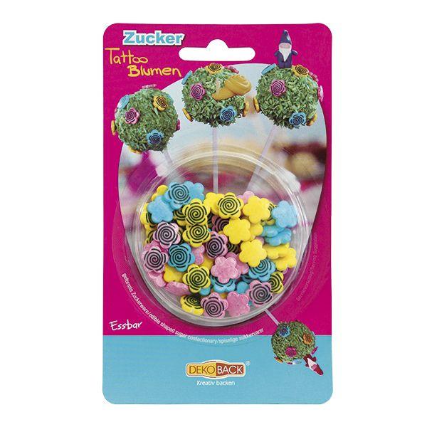 Jadalne cukrowe kwiatki to fantastyczne dodatki do dekoracji muffinów, cake pops, tortów, ciast, ciasteczek. UWAGA! Unikać kontaktu ze śmietaną oraz nie zapiekać produktu w piekarniku. Opakowanie zawiera 25 g kwiatków
