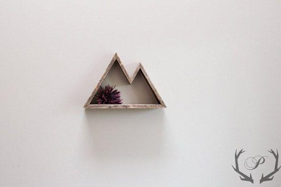 Geometric Mountain Shelf // 1/2 inch // Mountain by ParkinHandmade