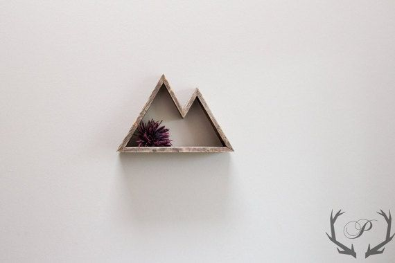 Geometric Mountain Shelf // 1/2 inch // Mountain by ParkinHandmade