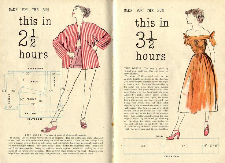 Vintage Chic: Quick & Easy Summer Wardrobe Patterns 1948