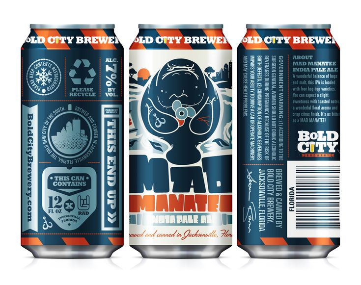 I like the overall look of the can. especially the addition of the infograph-like back label with small symbols.