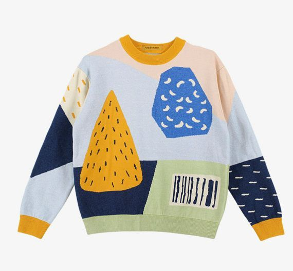 Neverland collection supermarket barcode floral sweater