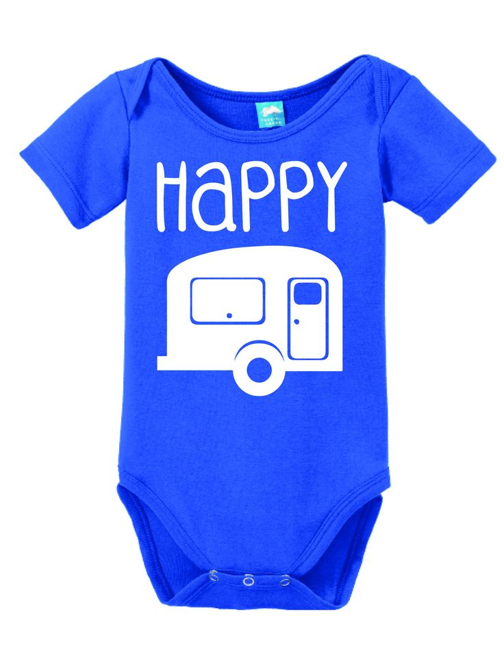 Happy Camper Onesie Funny Bodysuit Baby Romper