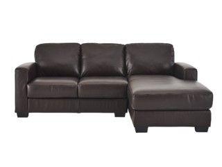 Leather Sleeper Sofa  bargain Dante Leather Corner Chaise Sofa Was Clearance Price