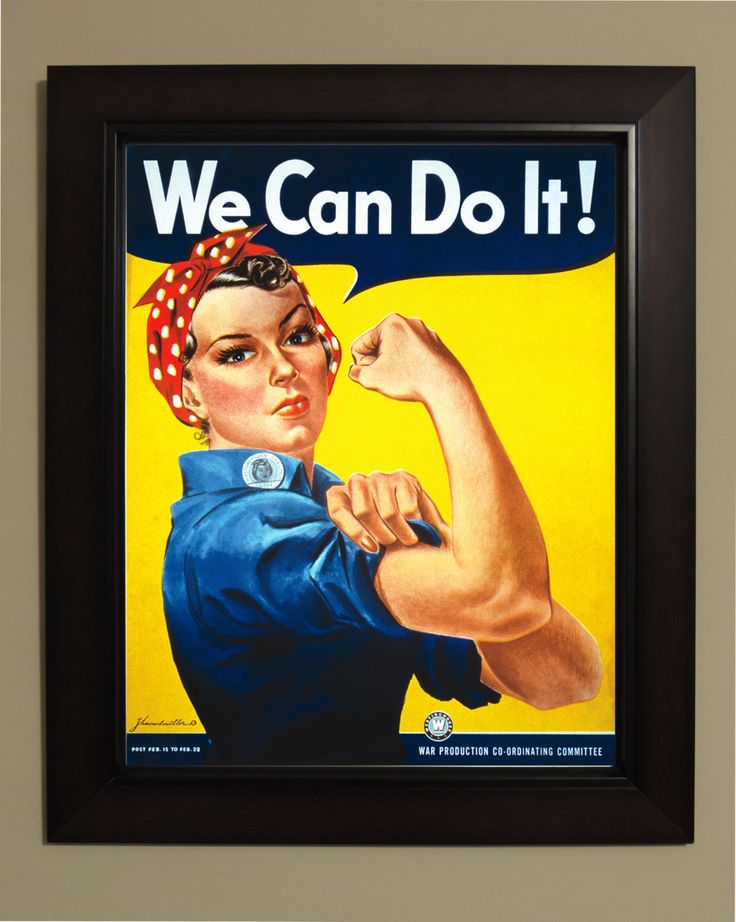 We can Do it (Rosie the Riveter) Poster - 3 sizes available, one low price. by VintageUnitedStates on Etsy https://www.etsy.com/listing/130080336/we-can-do-it-rosie-the-riveter-poster-3