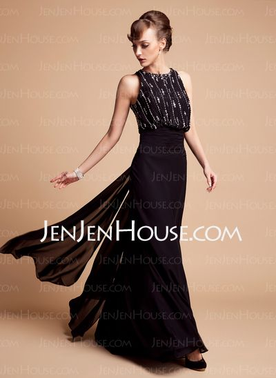 Mother of the Bride Dresses - $146.99 - Sheath Halter Floor-Length Chiffon