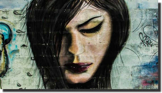 Girl Art  Graffiti Style  Canvas Print on by AustralianHousePlans