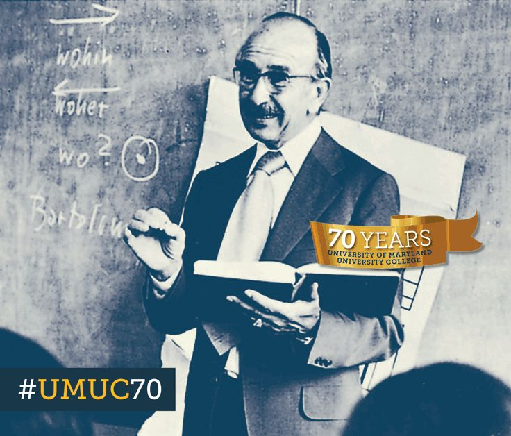 Faculty member Gottfried Schmalzbauer taught German to students on the UMUC Europe Munich campus in the 1960's. #ThrowbackThursday #umuc70