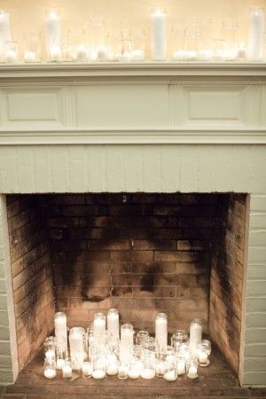 Best 25 Candles In Fireplace Ideas On Pinterest