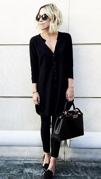 A Shirtdress, Pants, and Loafers | @andwhatelse