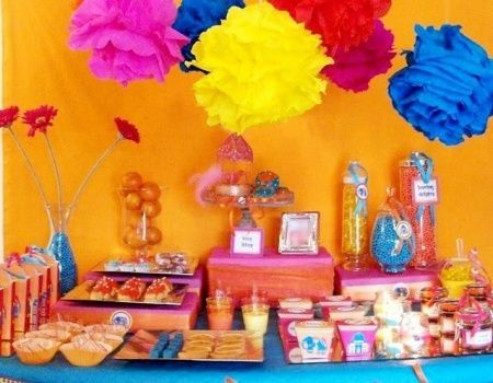 Fête thème Bollywood, déco Inde