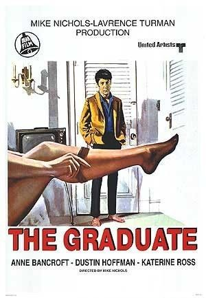 THE GRADUATE (1967). Not exactly old but certainly Mrs Robinson was old enough to know better!