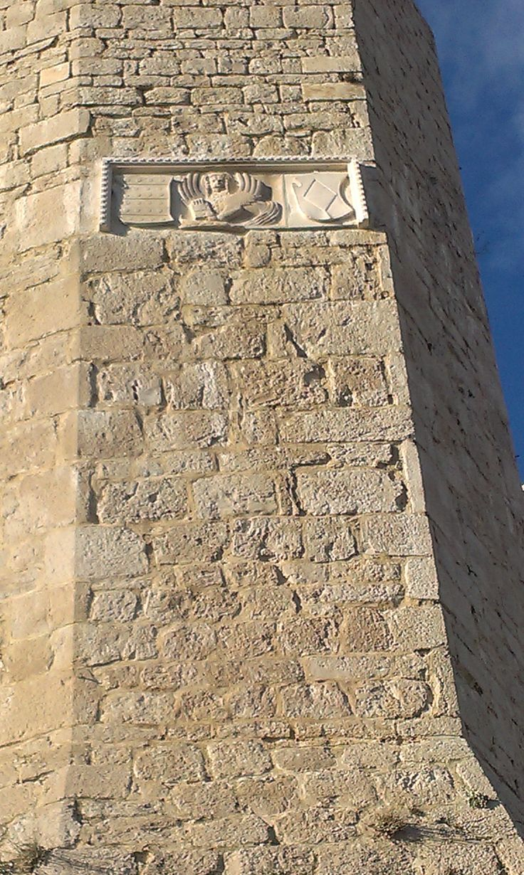Shields of Republic of Venice and and commanders of the fortress on one tower of St Michael fortress