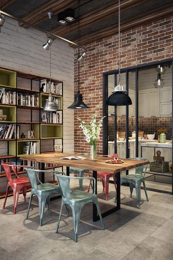 29 Creative Industrial Kitchen Decor Designs That …