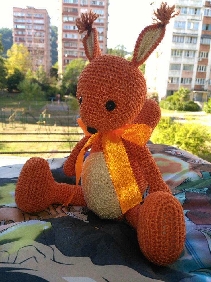 #белочка_крючком #амигуруми #вязаные_игрушки #amigurumi #squirrel
