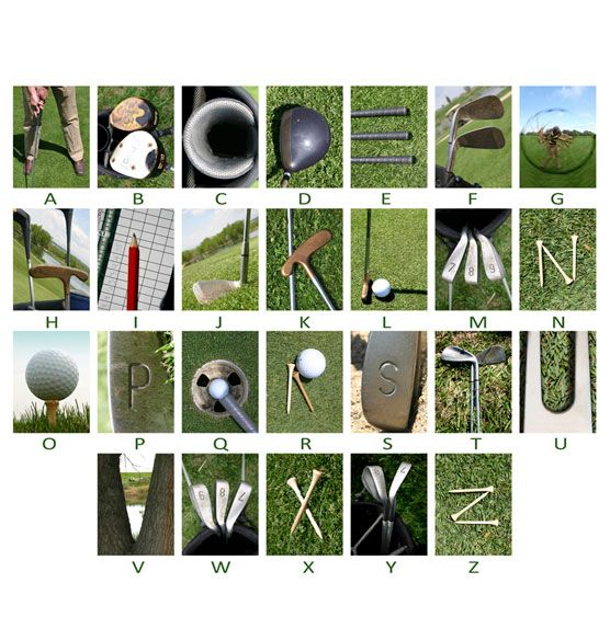 Golf - Framed Canvas Name Art - from Exposures. What a great gift for a golfer!