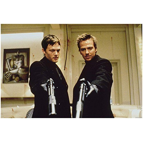 The Boondock Saints (1999) 8 Inch x10 Inch Photo Sean Patrick Flanery & Norman Reedus Dressed in Bla @ niftywarehouse.com #NiftyWarehouse #BoondockSaints #NormanReedus #Film #Movies #CultMovies #CultFilms