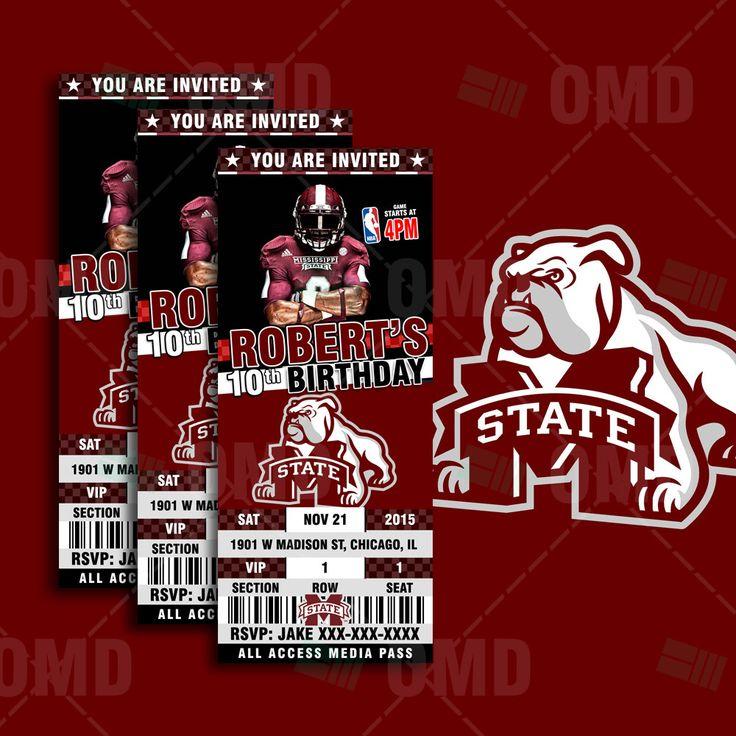 Mer enn 25 bra ideer om Mississippi state football tickets på - party tickets templates