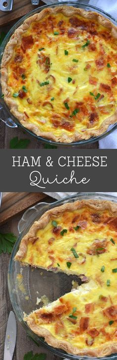 Ham and Cheese Quiche from What The Fork Food Blog   @WhatTheForkBlog   whattheforkfoodblog.com