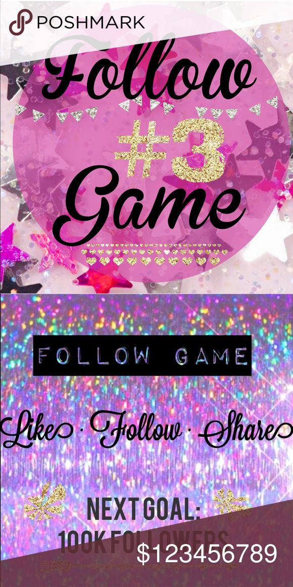 1/2 wayfull•let's max out this follow game• Follow Game #3 Started March 14th, 2017 • let's see how quick we can max this out!   Next Goal: 100k followers ⭐️  ➡️ Like this post ➡️ Follow everyone else who liked this post ➡️ Share this post  ➡️ Tag your PFF's  💟💟 • repeat • 💟💟 The more you share, the more followers you gain!   Check back daily to add the new followers ✨ Anthropologie Tops