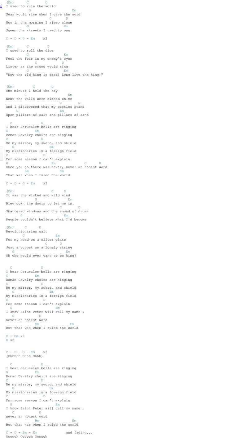 Viva La Vida - Coldplay chords