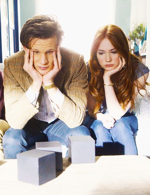Matt Smith(11th Doctor), Karen Gillan (Amy Pond) - Doctor Who