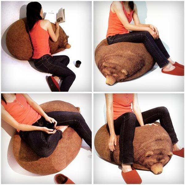 Bear Bean Bag by Chic Sin: Big Sleeping, Chair, Sleeping Grizzly, Beans, Bear Bean, Bean Bags, Design, Grizzly Bears