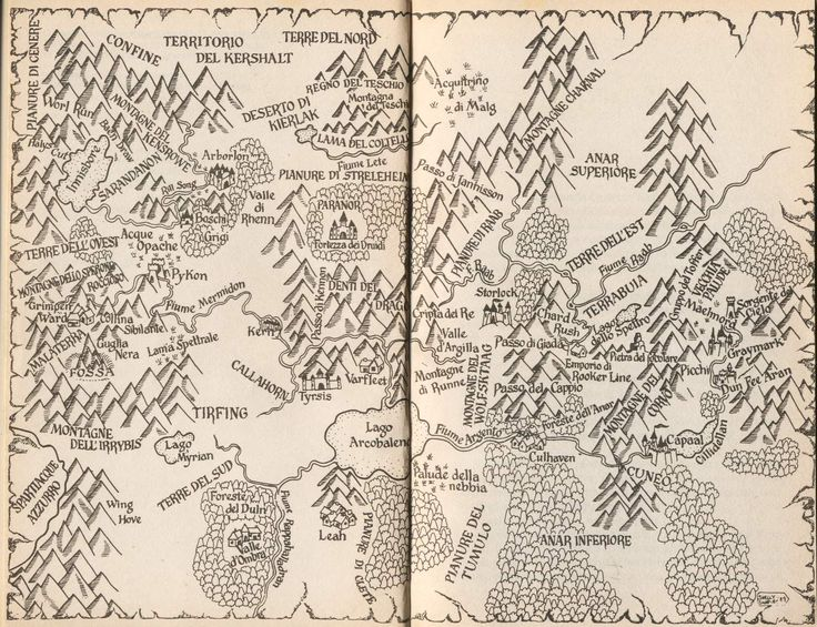 Map of Shannara.