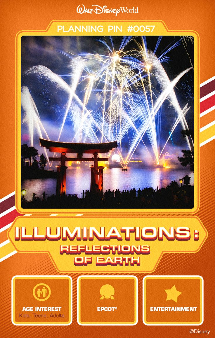 Walt Disney World Planning Pins: Behold the past, present and future of Earth at this stunning fireworks show that celebrates the spirit of humanity.