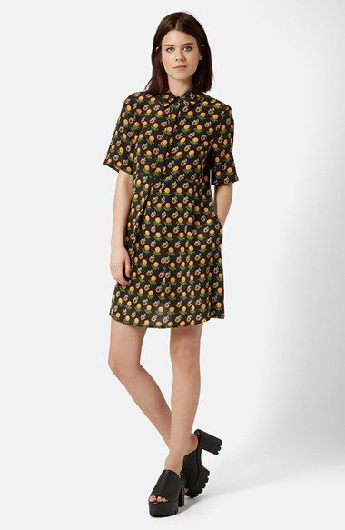 A cheeky print makes this shirt classic dress pop. A TOPSHOP Boutique Marigold Shirtdress | Pretty Little Liars