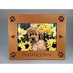 Laser Engraved Personalized Dog Photo/ Picture Frame