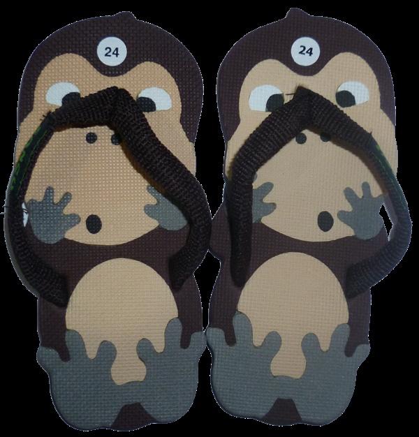Sandal sancu (sandal lucu) model George monyet yang kreatif, imut dan menarik, dibuat dengan sistem tempel dengan tiga lapis sol anti slip dan tahan lama. Untuk pesan SMS 0838 0660 0626 / 0896 3286 0440.