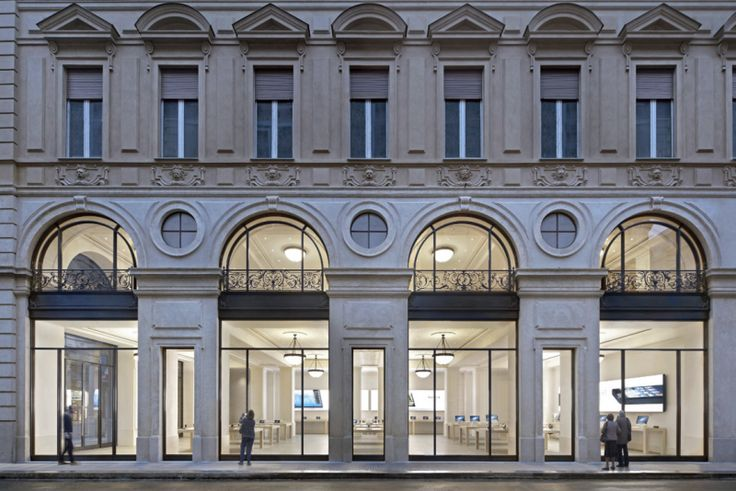 Apple's flagship Via Roma retail store in Torino, Italy
