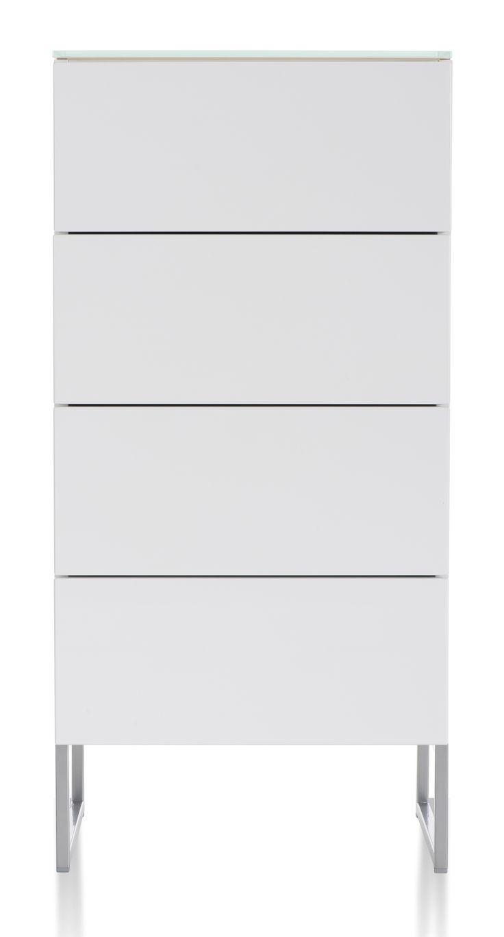 Oliivi hurst – 4 lådor, vit från Nurmela hos ConfidentLiving.se