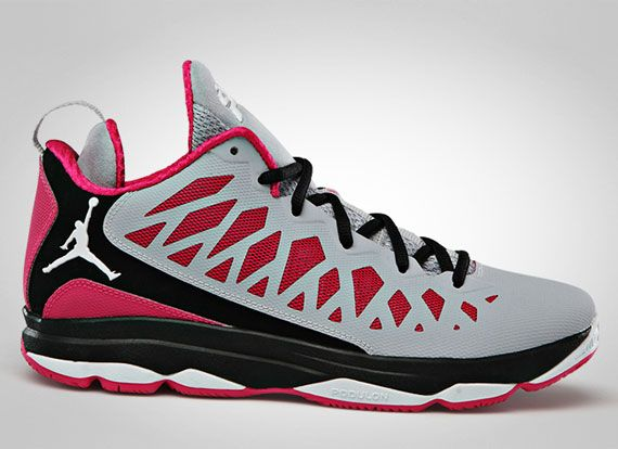 Latest Listing Cheap Jordan Wolf Grey Vivid Pink Black White 535807 090  Shoes 2013 For Sale