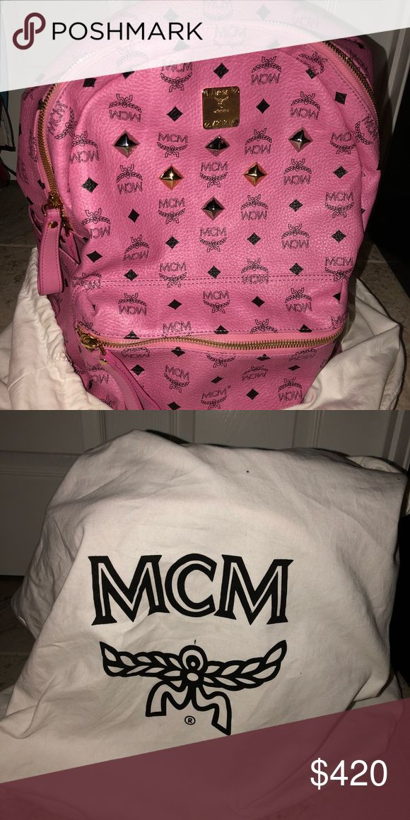MCM Backpack Pink Mcm Backpack MCM Bags Backpacks