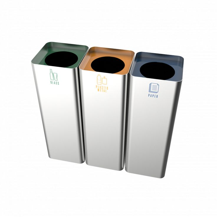 SALLIERE SST - Stainless steel stylish modern design recycling bins